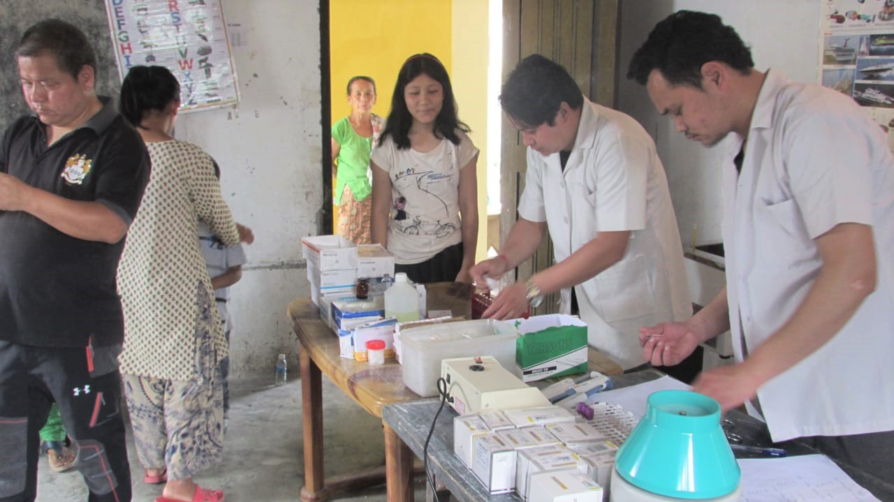 Medical Camp at Pudung Village, Kalimpong, India